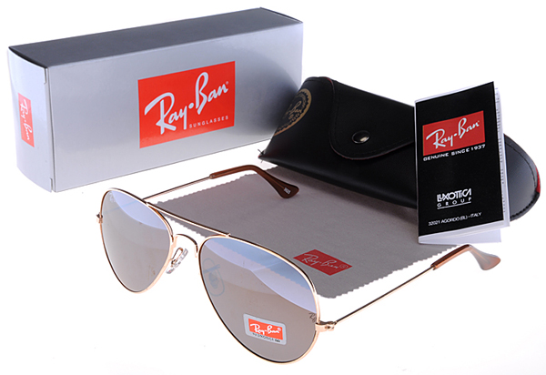 Ray Ban Aviator Luz Marrón Oval Gafas De Sol