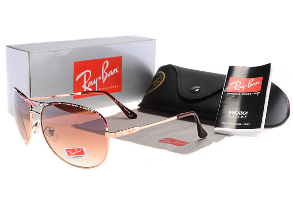 Ray Ban Marrón Lens Colorful Decorated Metal Frame Gafas De Sol