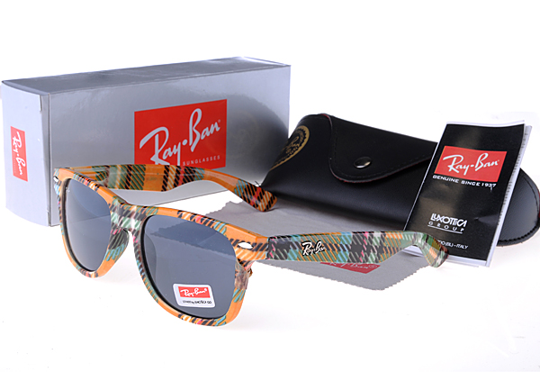 Ray Ban Colorful Plaid Frame New Wayfarer Gafas De Sol